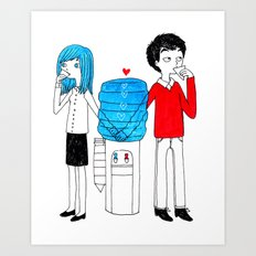 Office Love Art Print