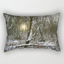 Snowy morning Rectangular Pillow