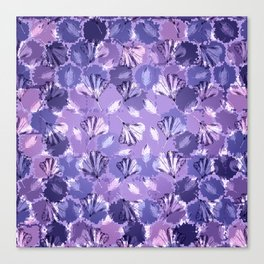 Mosaic Ginkgo (Ultra-Violet) Canvas Print