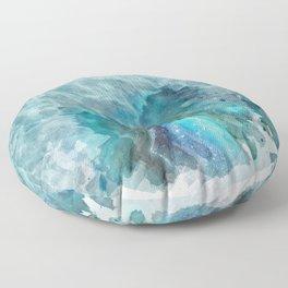 Blue Aqua Agate Floor Pillow
