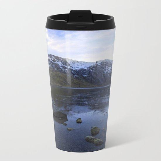 Frozen Lake Idwal Metal Travel Mug