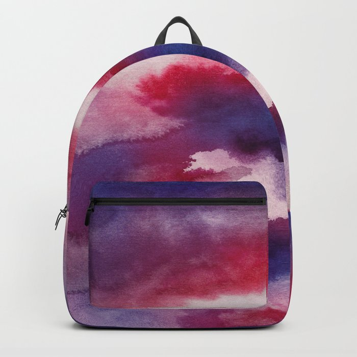 Clouds - abstract watercolor 01 Backpack