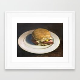 ham and cheese Framed Art Print