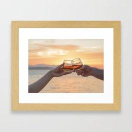 Romantic Evening Toast Framed Art Print