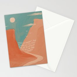 Warm Canyons - What Is Meant To Be - Quote Stationery Cards