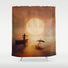 In Quiet Light Shower Curtain