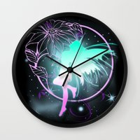 fairy Wall Clocks featuring Fairy by Augustinet