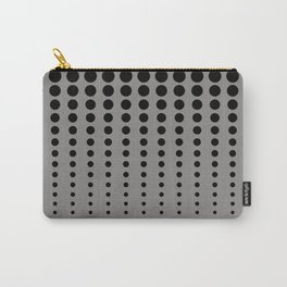 Reduced Black Polka Dots Pattern on Solid Pantone Pewter Background Carry-All Pouch