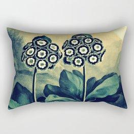 Auriculas Temple of Flora Teal Dusk Rectangular Pillow