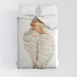 White Large Shell Comforters