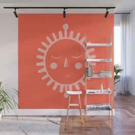 sleepy sun Wall Mural