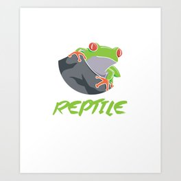 Certified Reptile Whisperer Reptile Reptilia Reptilian Cold Blooded Animal Gift Art Print