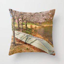Meadowlark Spring Gardens Throw Pillow