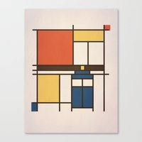 mondrian Canvas Prints featuring Mondrian Who by Perdita
