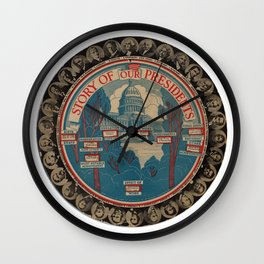 The Story of Our Presidents Wall Clock