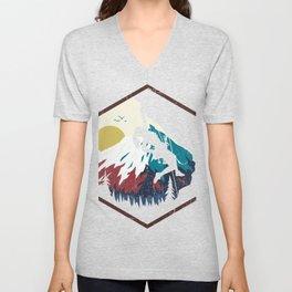 Bouldering Rock Climbing Vintage Gift Design print Unisex V-Neck