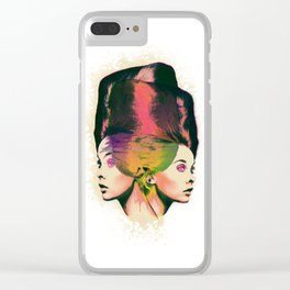 Twin Beehive Clear iPhone Case