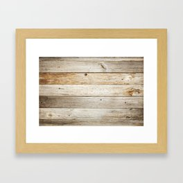 Rustic Barn Board Wood Plank Texture Framed Art Print