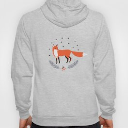 Red foxes and berries in the winter forest Hoody