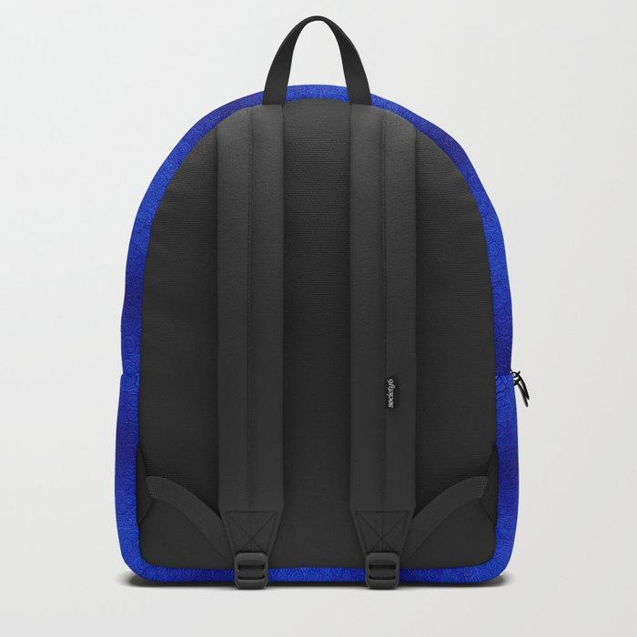 Blue Tiki Pattern Backpack