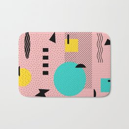 Hello Memphis Peach Berry Bath Mat