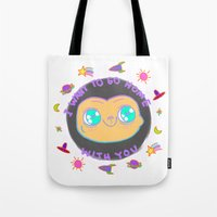et Tote Bags featuring ET by grecia colunga