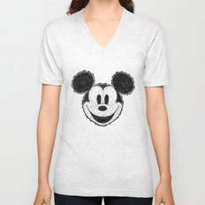 wooden Mickey Mouse Unisex V-Neck