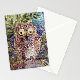 Owl art Stationery Cards