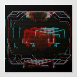 Neon Bible Glitch Canvas Print