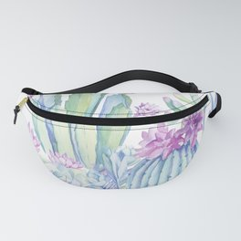 Mixed Cacti White #society6 #buyart Fanny Pack