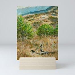 Boise Idaho foothills painting Mini Art Print