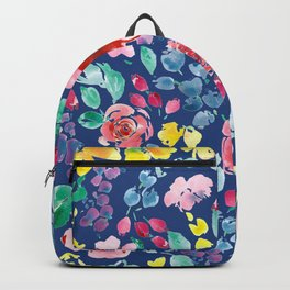 Summer Blooms on True Blue Backpack