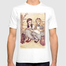 Dorothy and Alice White Mens Fitted Tee MEDIUM