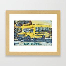 Back to School - The Yellow School Bus Framed Art Print