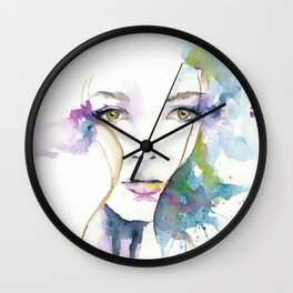 March Girl Wall Clock