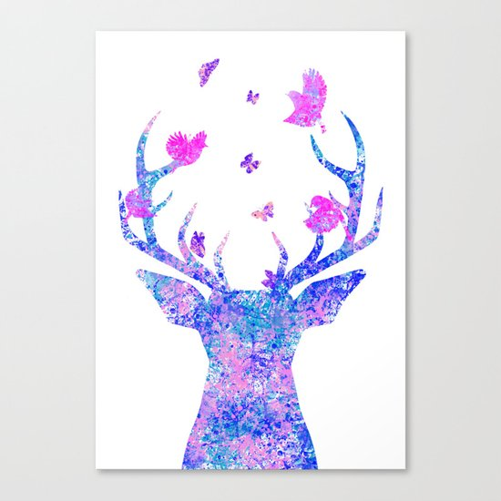Flying Amongst the Antlers  Canvas Print