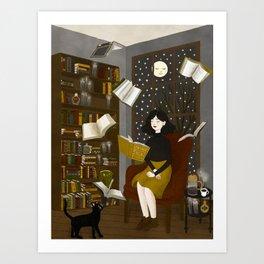 floating books Art Print