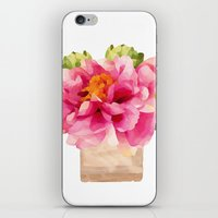 peonies iPhone & iPod Skins featuring Peonies  by Xchange Art Studio