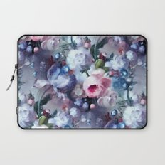Blue and pink floral pattern Laptop Sleeve