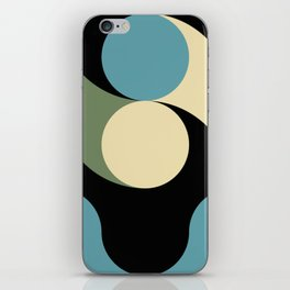 Two comets, one blue with a white tail, the other's white with a green tail. iPhone Skin