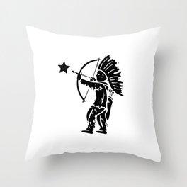 Indian Shooting Star Throw Pillow