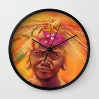 spice Wall Clocks featuring Spice Kid by The Art of Vancuf
