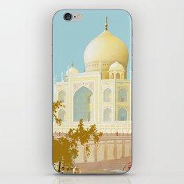 Visit India - Taj Mahal - Vintage Travel Poster iPhone Skin