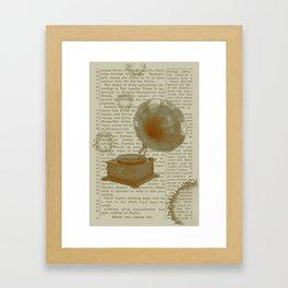 Vintage Phonograph Framed Art Print