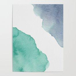 Watercolor Drops Poster