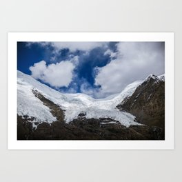Glaciers of Tibet Art Print