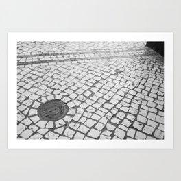 Macau Cobblestone Art Print
