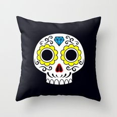 Sugar skull for a cake Throw Pillow