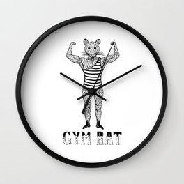 Strongman Bodybuilder Gym Rat Wall Clock
