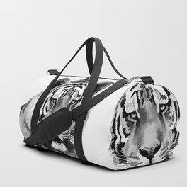Tiger Black and white Duffle Bag